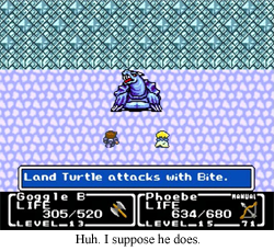 A turtle does bite