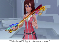 And her keyblade is all frilly, too